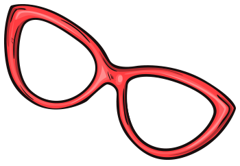 Retro Brille in rot