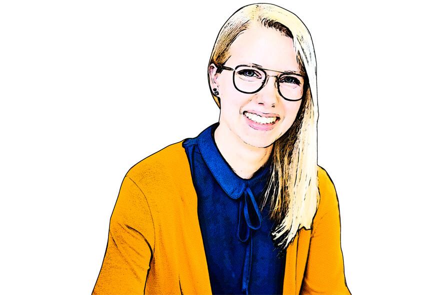 Laura Jerzakowski im Retro Comic Stil